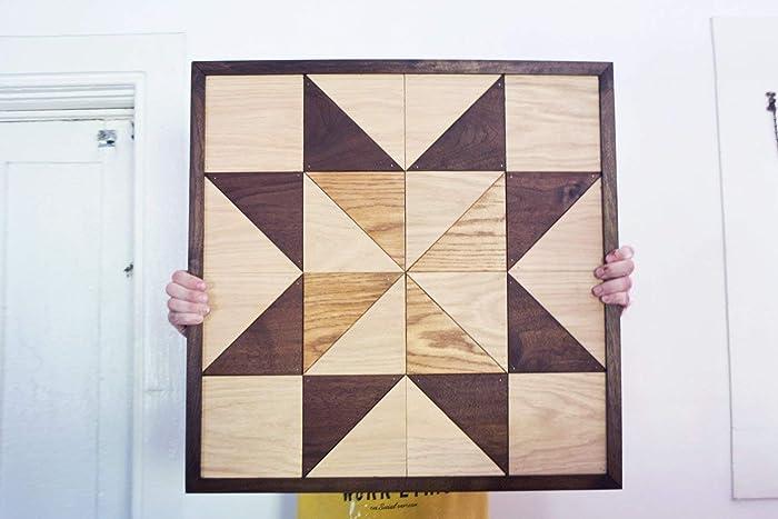 Amazon Com Traditional Pinwheel Wooden Barn Quilt Geometric Wall