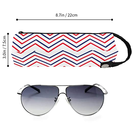 8c884e5454 Nautical Travel Stripe Glasses Case Women Men Eyeglasses Bag Pencil ...