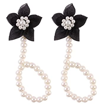 fe366bc32 Amazon.com   FEITONG  2016 Cute Pearl Chiffon Barefoot Toddler Foot Flower  Beach Sandals Anklet (Black)   Baby