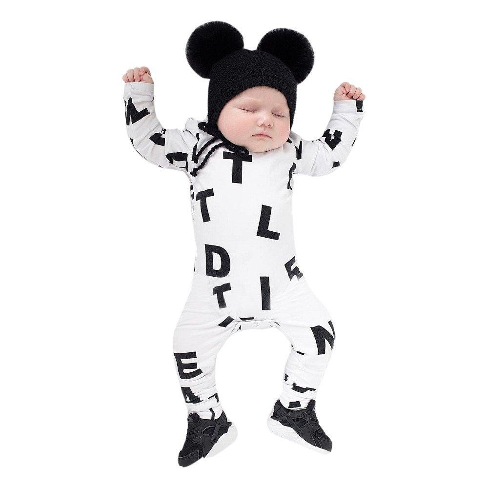 SUMTTER Neonato Infantile Bambino Ragazzo Ragazza Manica Lunga Lettera Pagliaccetto Tuta Abiti Outfits