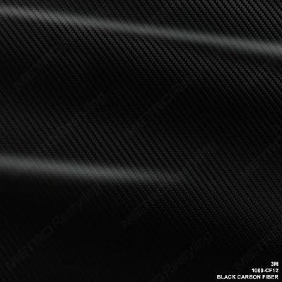 3M 1080 CF12 BLACK CARBON FIBER 5ft x 1ft (5 Sq/ft) Car Wrap Vinyl Film: Automotive