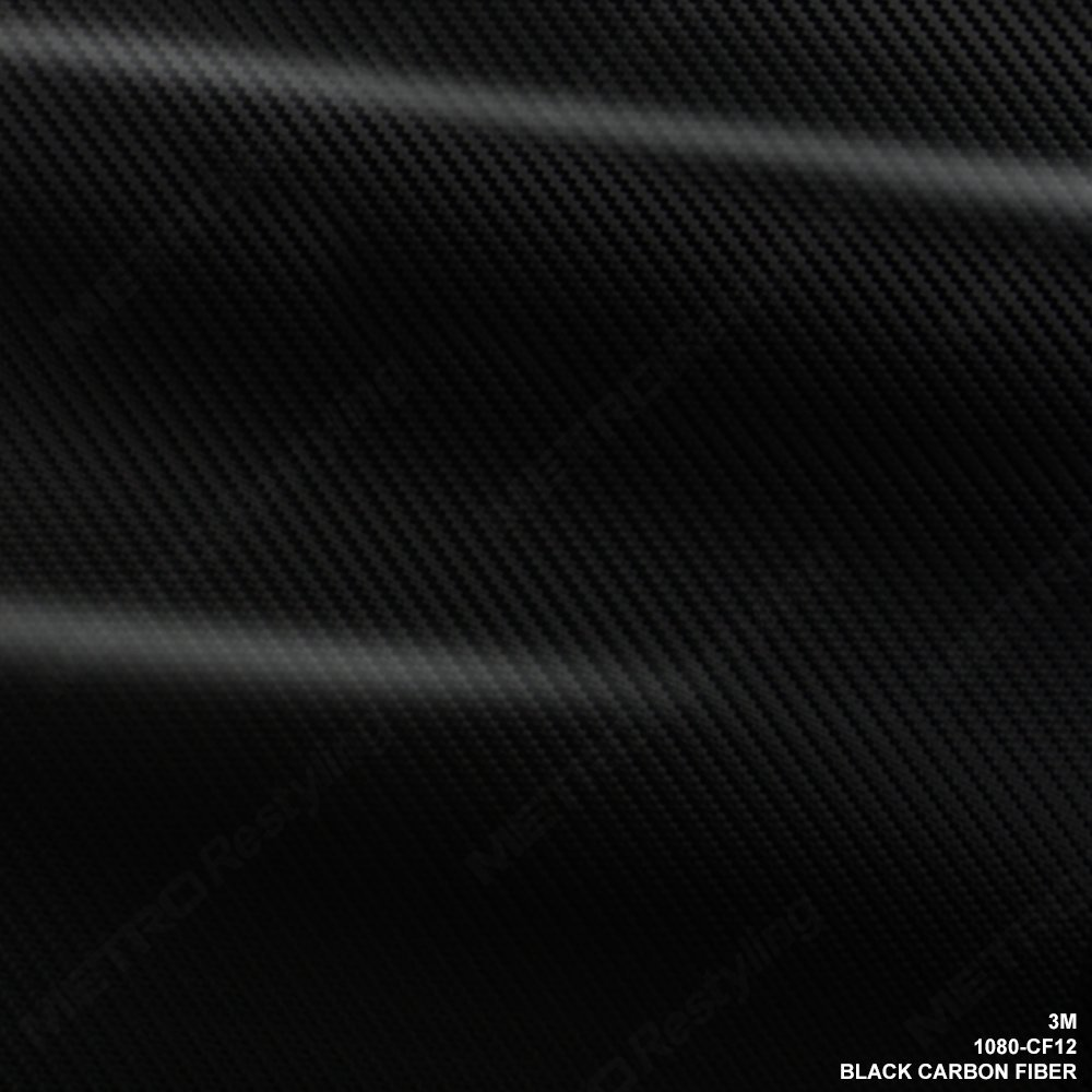 3M 1080 CF12 BLACK CARBON FIBER 60in x 96in (40 Sq/ft) Car Wrap Vinyl Film