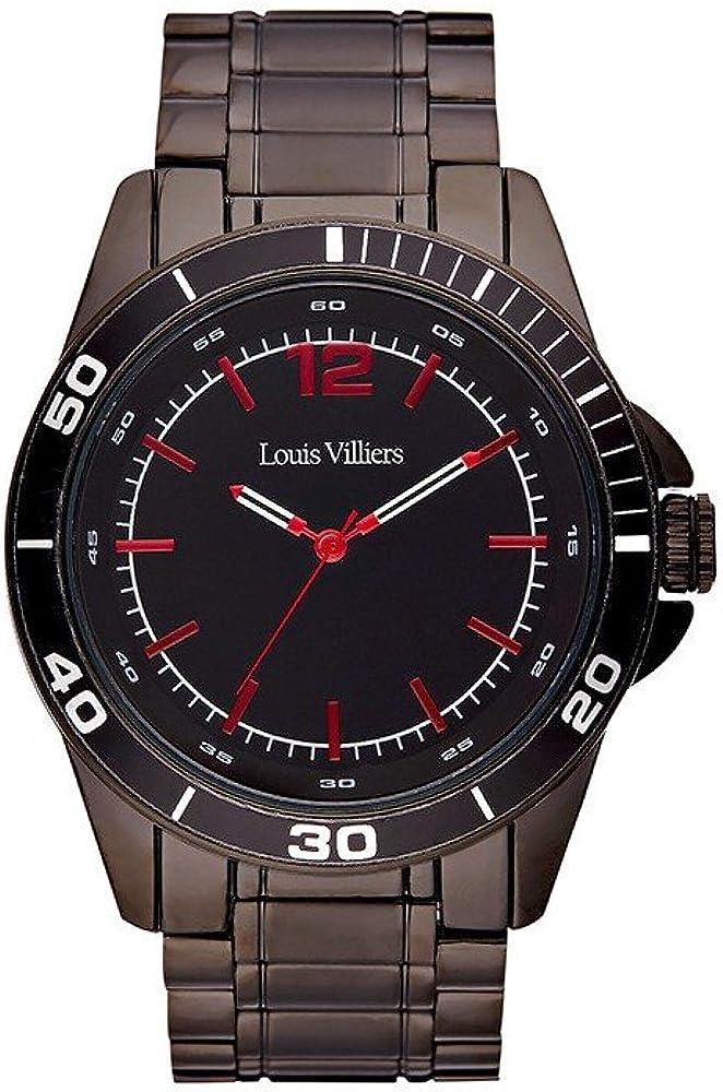 Louis Villiers Reloj Analógico para Unisex Adultos de Cuarzo con Correa en Acero Inoxidable LV1007