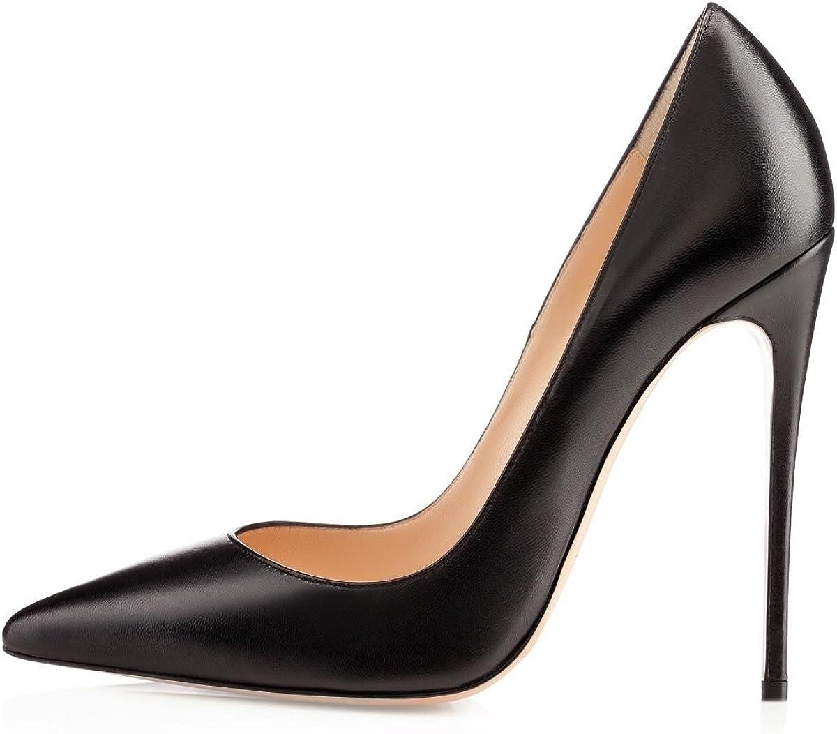 EDEFS Zapatos de Tacón para Mujer,Zapatos de Tacón Alto 12 CM