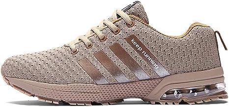 WDDGPZYDX Calzado Deportivo Zapatos Casuales De Hombres Tallas Grandes 46 Zapatos De Hombre Zapatillas Militares Zapatillas De Deporte De Verano Otoño Zapatillas Verdes De Unisex,Marrón,7: Amazon.es: Deportes y aire libre