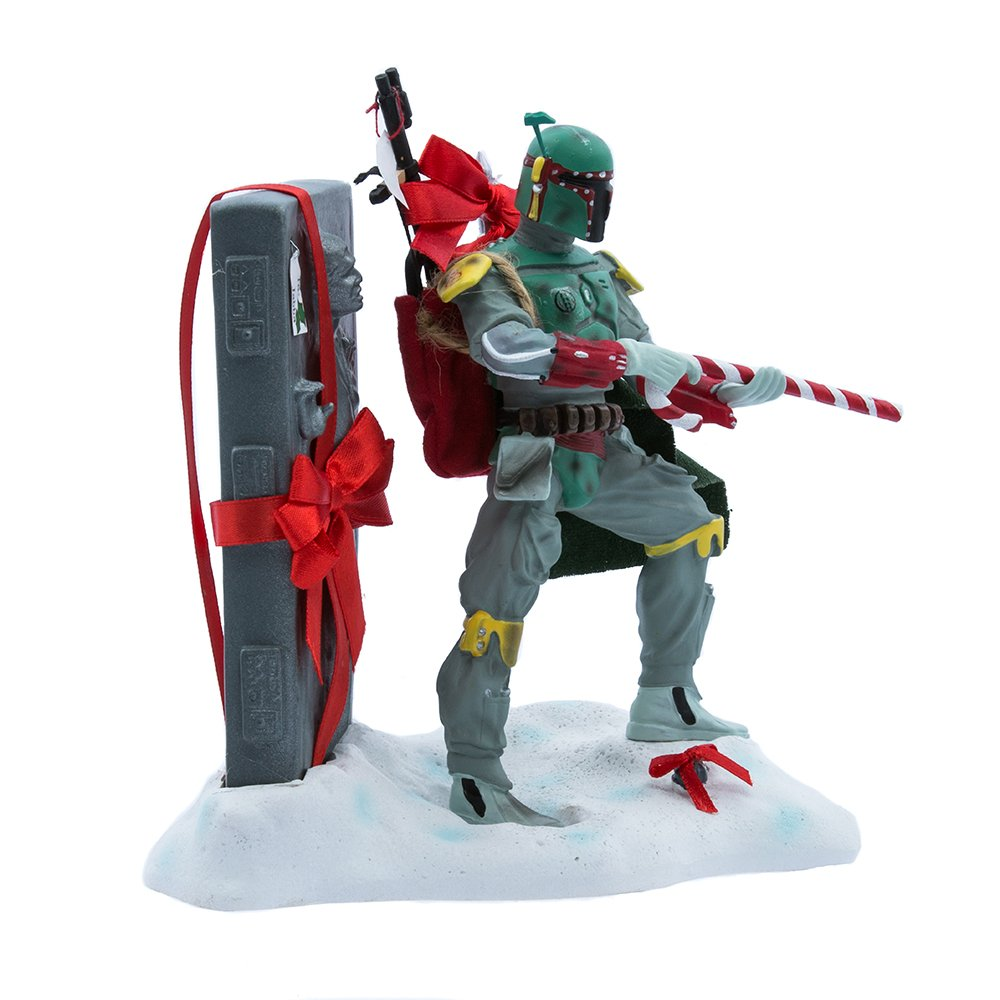 Kurt S. Adler 8-Inch Fabric Mache Star Wars Boba Fett Tablepiece Christmas Décor Kurt Adler SW0150