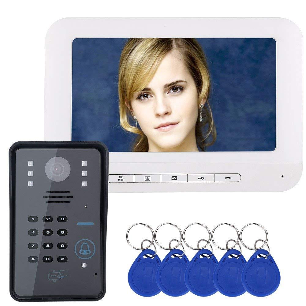 7 LCD RFID Password Video Porta citofono interfono con IR-CUTCamera 1000 TV Linea di Accesso al Sistema di Controllo