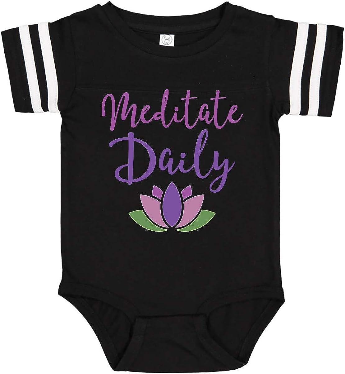 inktastic Meditation Resolution Meditate Daily Infant Creeper