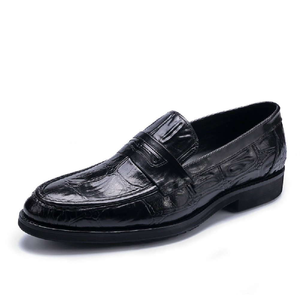 Amazon.com: HAPPYSHOP TM Mens Fake Crocodile Leather Fashion Moccasins Slip On Shoe Comfort Driving Shoes: Shoes