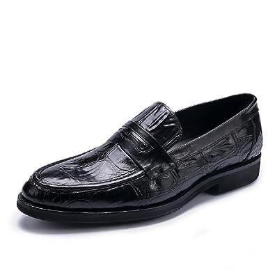 TM Men's Fake Crocodile Leather Fashion Moccasins Slip On Shoe Comfort Driving Shoes