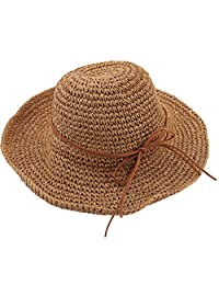 Urban CoCo Women's Wide Brim Caps Foldable Summer Beach Sun Straw Hats