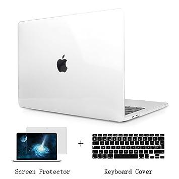 TwoL Funda Dura Carcasa con Cubierta de Teclado y Protector de Pantalla para MacBook 12 pulgadas Retina (Transparente)