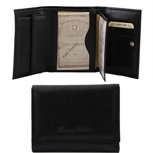 Tuscany Leather TL140790 - Cartera para mujer de Piel Mujer Negro Negro compact: Amazon.es: Zapatos y complementos