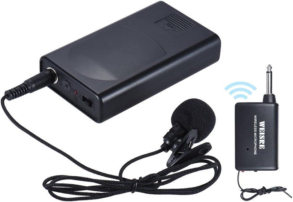 ammoon Portátil Lapel Lavalier Collar Clip-on Micrófono Inalámbrico Amplificador de Voz para la Conferencia Discurso Promoción