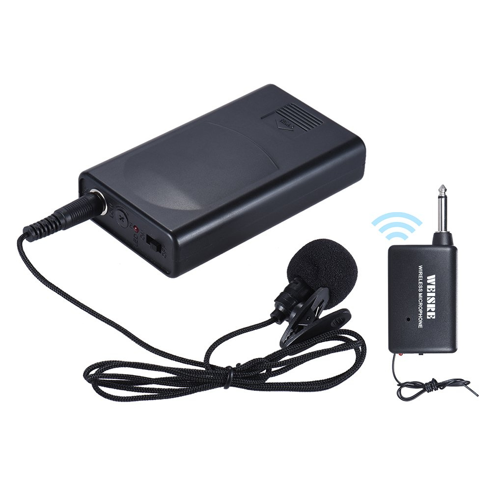 Andoer Portable Lavalier Lapel Collar Clip-on Wireless Microphone Voice Amplifier for Lecture Conference Speech Promotion