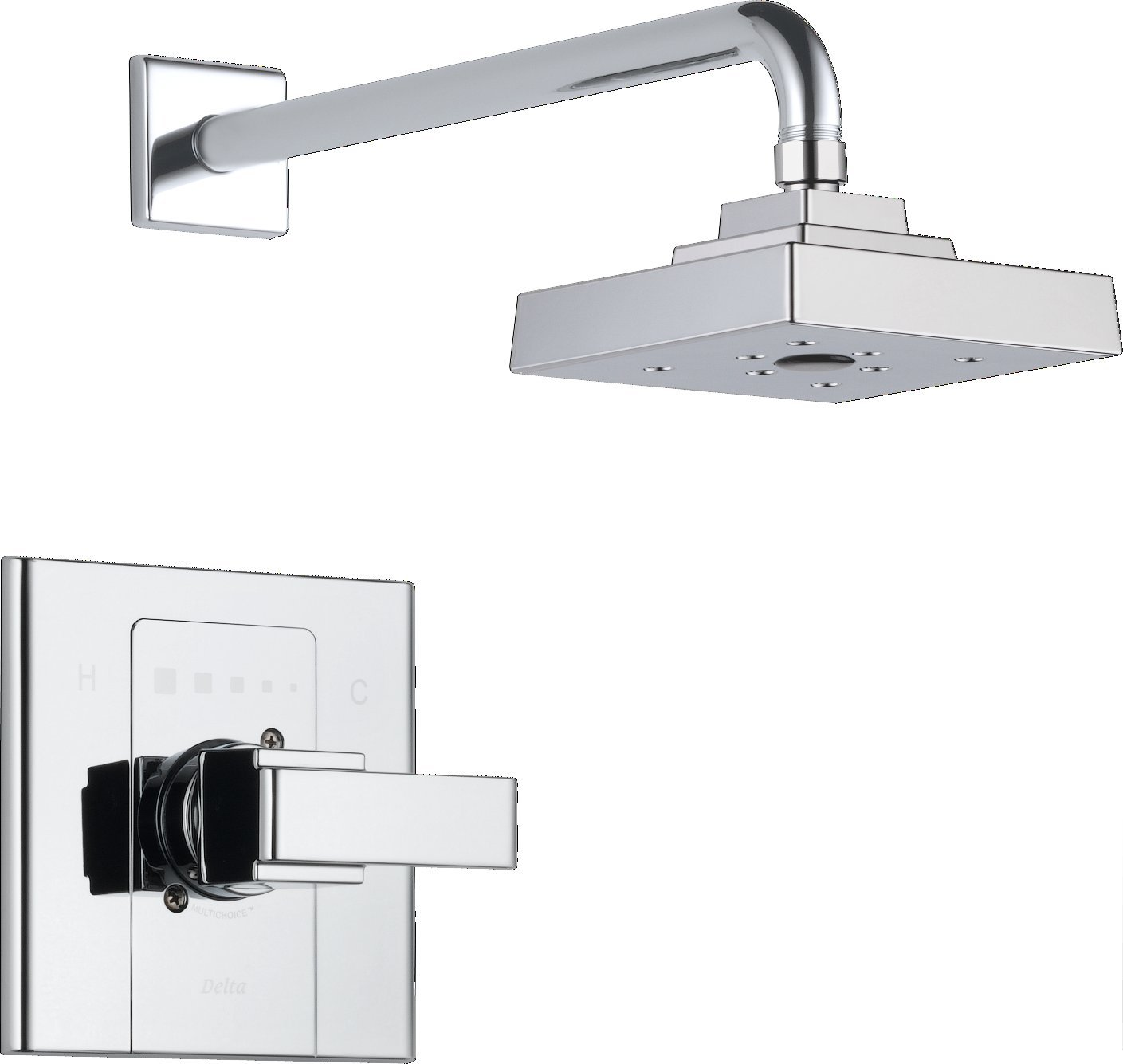 Delta Faucet T14286 Arzo, Monitor 14 Series Shower Trim, Chrome ...