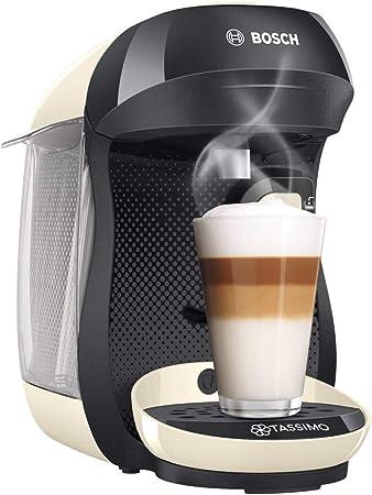 Bosch TAS1007 Tassimo Happy Cafetera de cápsulas, 1400 W, color vainilla y negro: Amazon.es: Hogar