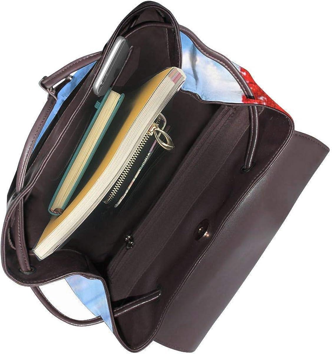 Zaino Donna Vera Pelle Albero di campagna autunnale, Borsa Da Viaggio a Grande Capacità, Borsa a Tracolla Lady Fashion Backpack Daypack Per Scuola Viaggio Lavoro 19