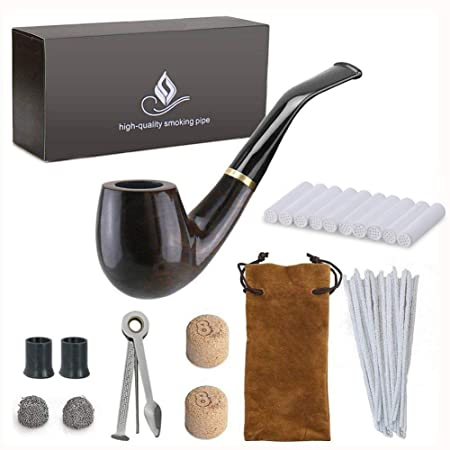 joyoldelf wooden tobacco smoking pipe pear wood pipe with pipe