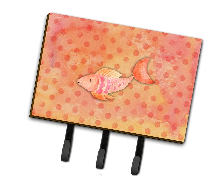 Caroline's Treasures Orange Fish Watercolor Wall Hook Triple Multicolor