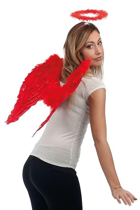 P tit payaso 80162/de alas de /ángel en plumas/ /negro /50/x 50/cm/