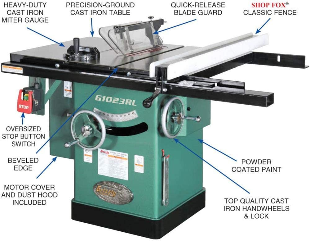 Grizzly G1023RL Table Saws product image 2