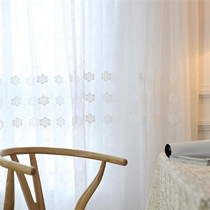 BKFF® Tende bianche Solid White Tulle Tende moderne per la sala da ...