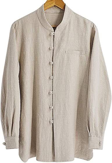 Camisa de Hombre Casual de Mangas largas Hecha a Mano en algodón o Lino #111