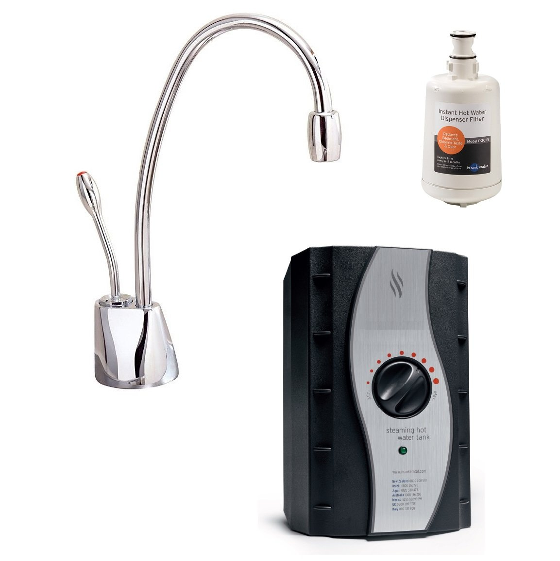 Insinkerator 3573 Instant Hot Water Tap | Includes H1100C Chrome Tap, Tank  U0026 Filter: Amazon.co.uk: Large Appliances