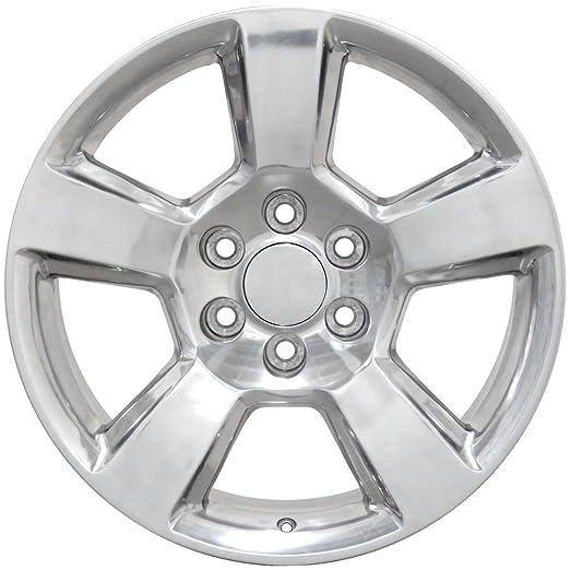 amazon oe wheels 20 inch fits chevy silverado tahoe gmc sierra 12 Chevy Impala amazon oe wheels 20 inch fits chevy silverado tahoe gmc sierra yukon cadillac escalade cv76 polished 20x9 rim hollander 5652 automotive