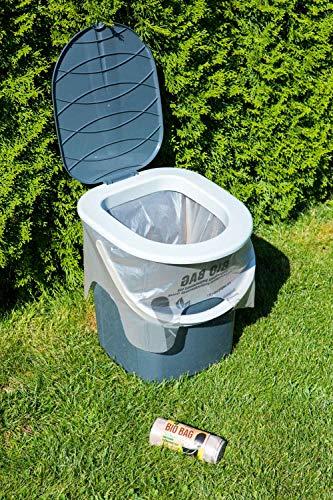 BranQ - Home essential Unisex-Adult Toilettenbeutel Bio 20 Stück Limited Edition für Campingtoiletten, braun, 22 l