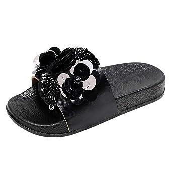 LILICAT ✈✈ 2019 Moda Mujer Correa Cruzada Toe Sandalias Planas Zapato de Playa Zapatillas de Corcho Sandalias Casuales Zapatos De Playa Sandalias Romanas ...