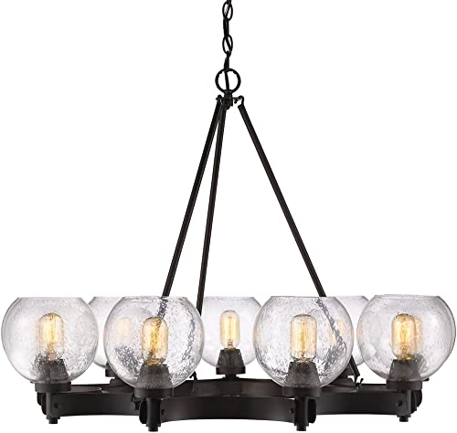 Golden Lighting 4855-9 RBZ-SD Galveston Chandelier