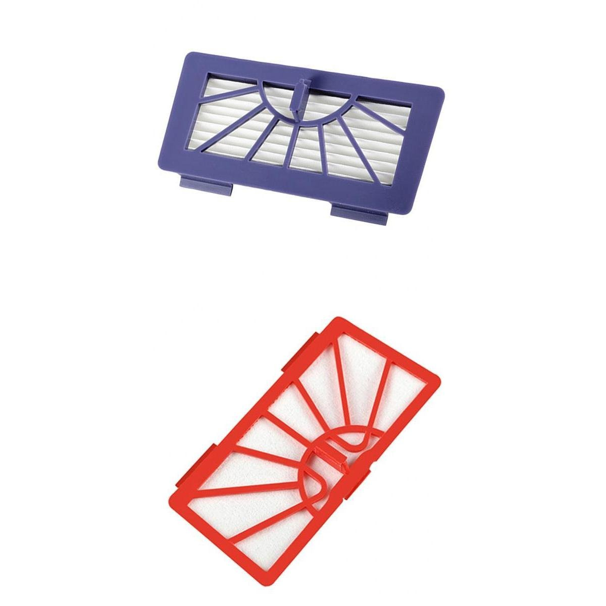 Fenteer 2 x Filtro de repuesto para Neato XV de serie Robot aspirador, morado y rojo: Amazon.es: Hogar
