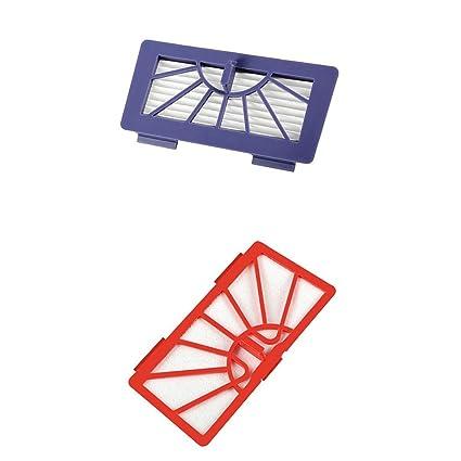 Fenteer 2 x Filtro de repuesto para Neato XV de serie Robot aspirador, morado y