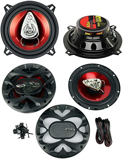 """New BOSS CH6530 CHAOS EXXTREME 300W 6-1//2/"""" 6.5/"""" 3-Way Car Audio Speakers Pair"""