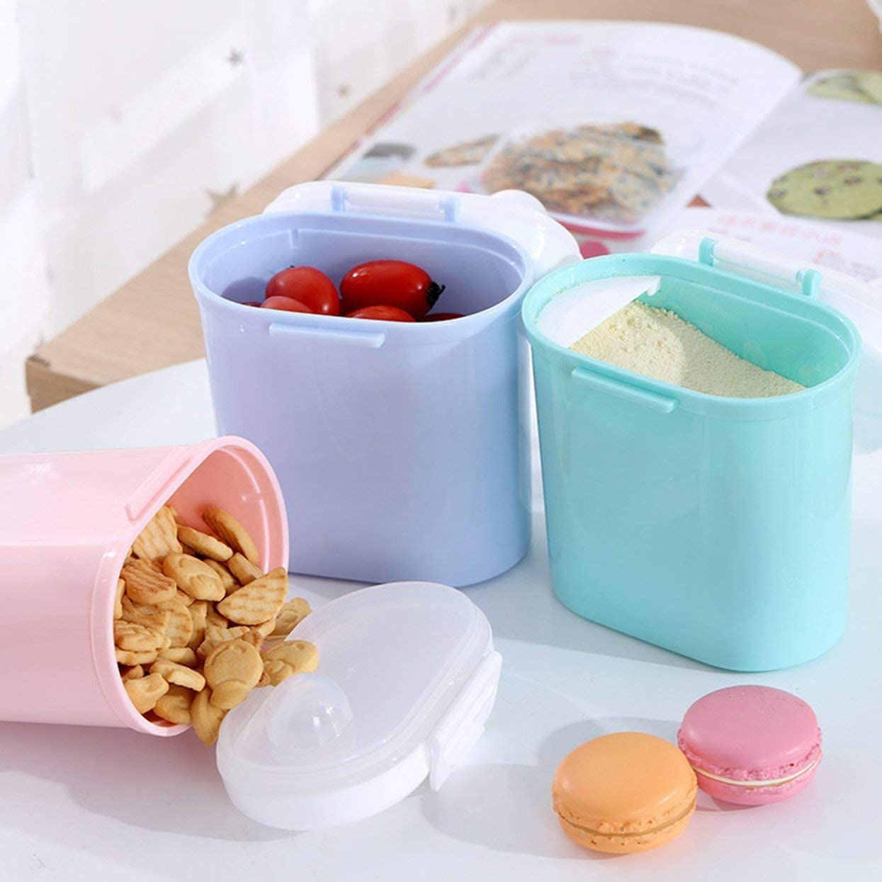 Contenitore di stoccaggio sigillato per serbatoio portatile per latte di latte in polvere per bambini di grande capacit/à allaperto portatile Verde L