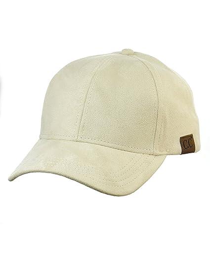 NYFASHION101 Unisex Adjustable Faux Suede Precurved Bill Baseball Cap Hat 35a0cc358da1