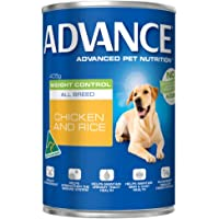 Advance Adult and Senior Weight Control 405g Dog Wet Food, pack of 12