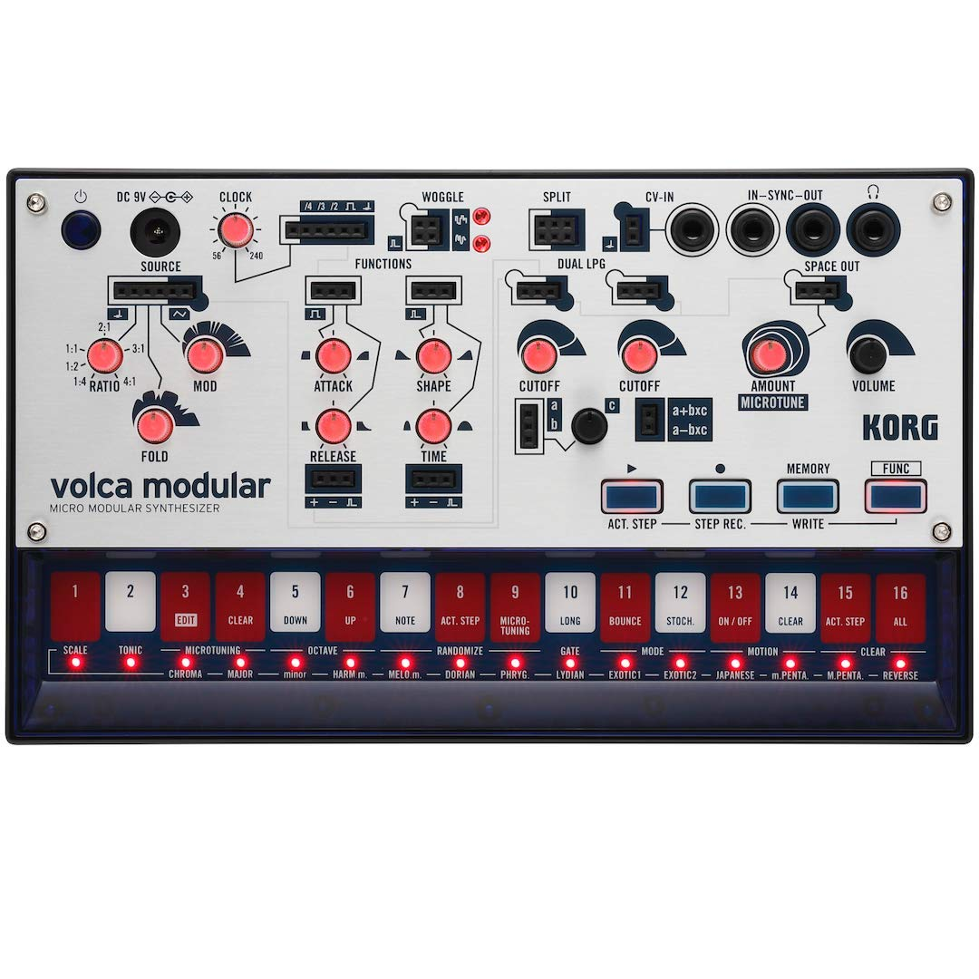 Korg Volca Modular Semi-Modular Synthesizer with Sequencer by Korg