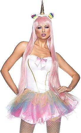 Generique - Disfraz Unicornio fantasía Luminoso Mujer: Amazon.es ...