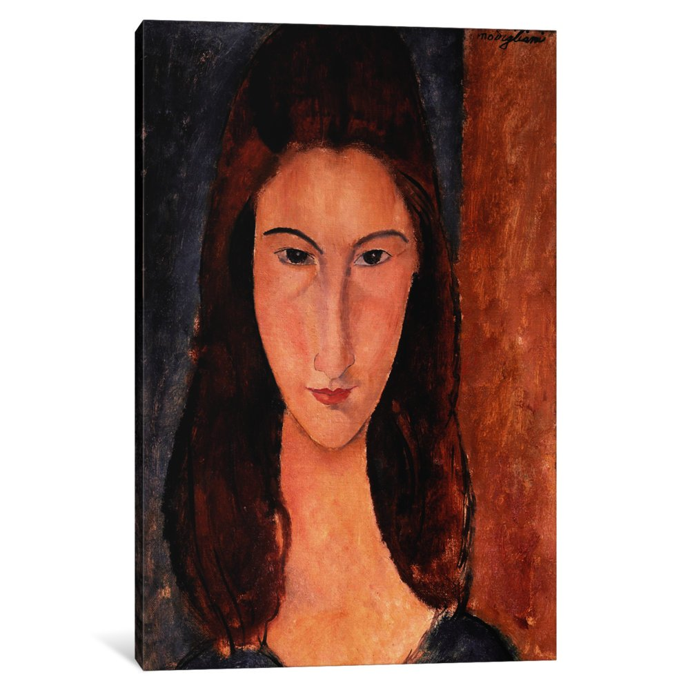 iCanvasART 3-Piece Portrait of Jeanne Hebuterne Canvas Print by Amedeo Modigliani 0.75 by 40 by 60-Inch