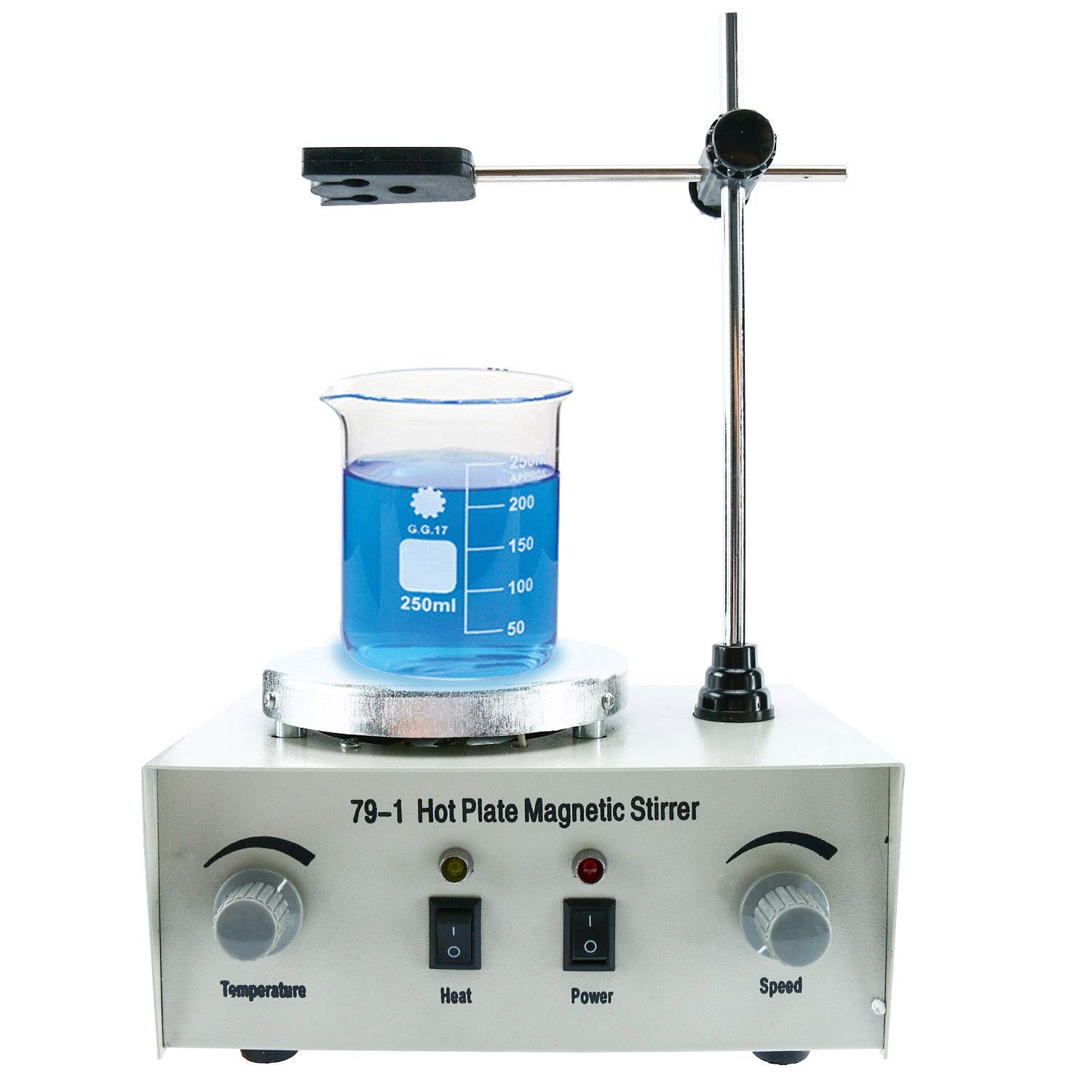 1000ml Adjustable Hotplate Mixer Heat Plate Magnetic Stirrer with stir bar 79-1 110V 2400 RPM by YaeCCC