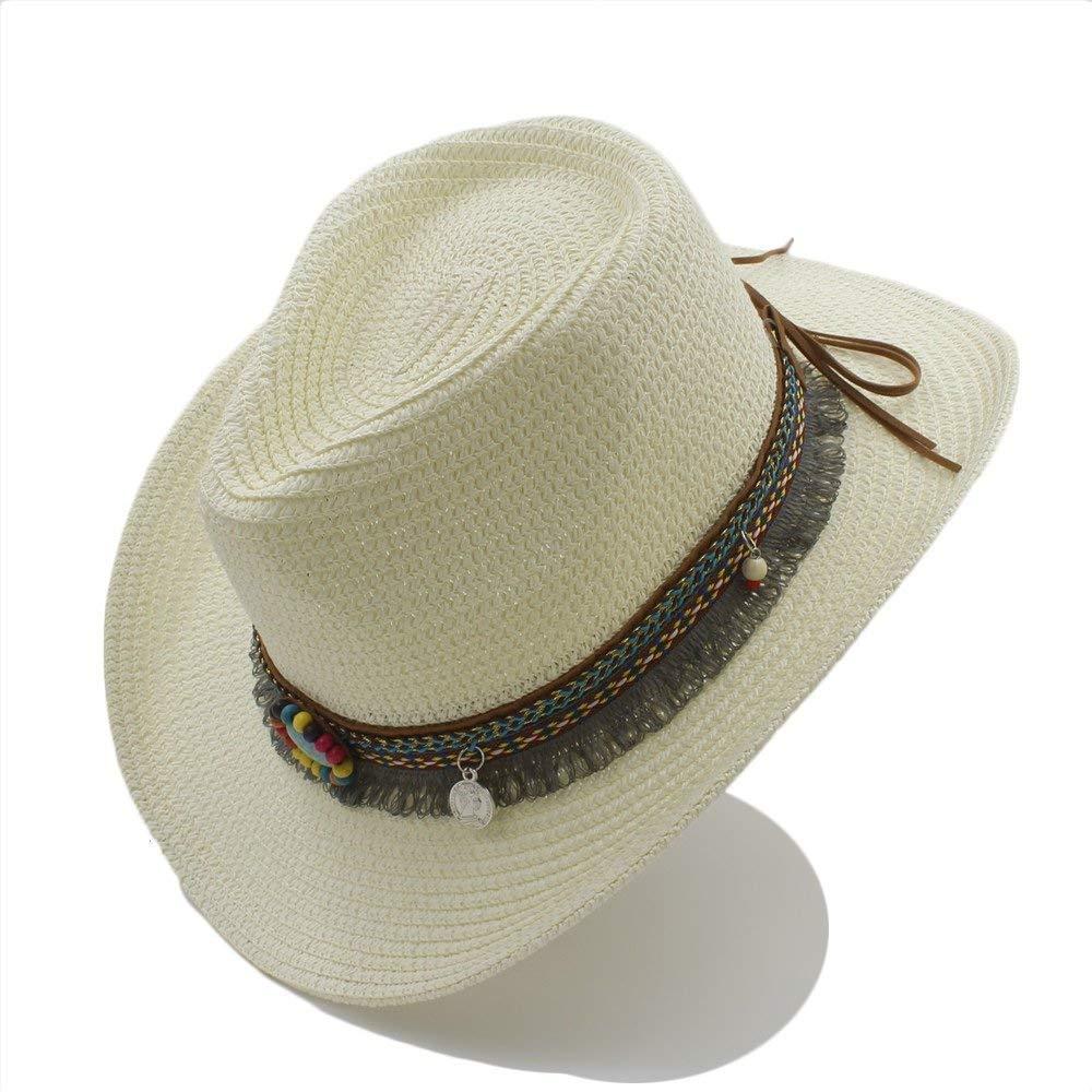 Handwork Summer Women's Men's Hollow Western Cowboy Hat for Gentleman Western Word Cowgirl Jazz Cap Summer Straw Beach Sun Hat Warm Soft and Comfortable Hats