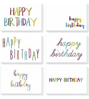 Birthday Cards Bulk 48 Pack Blank Happy Greeting
