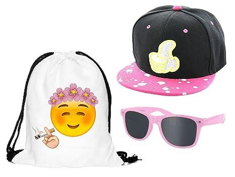 1f55e516a782b Kit ensemble de 3 accessoires Blanc pink noir : Sac , Casquette et lunettes  (Outfit Set 8) pas cher ...