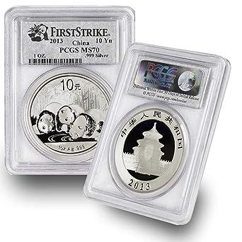 2012 PCGS MS69 China Panda ¥ 10 Yuan 1 oz .999 Silver Coin Early Release
