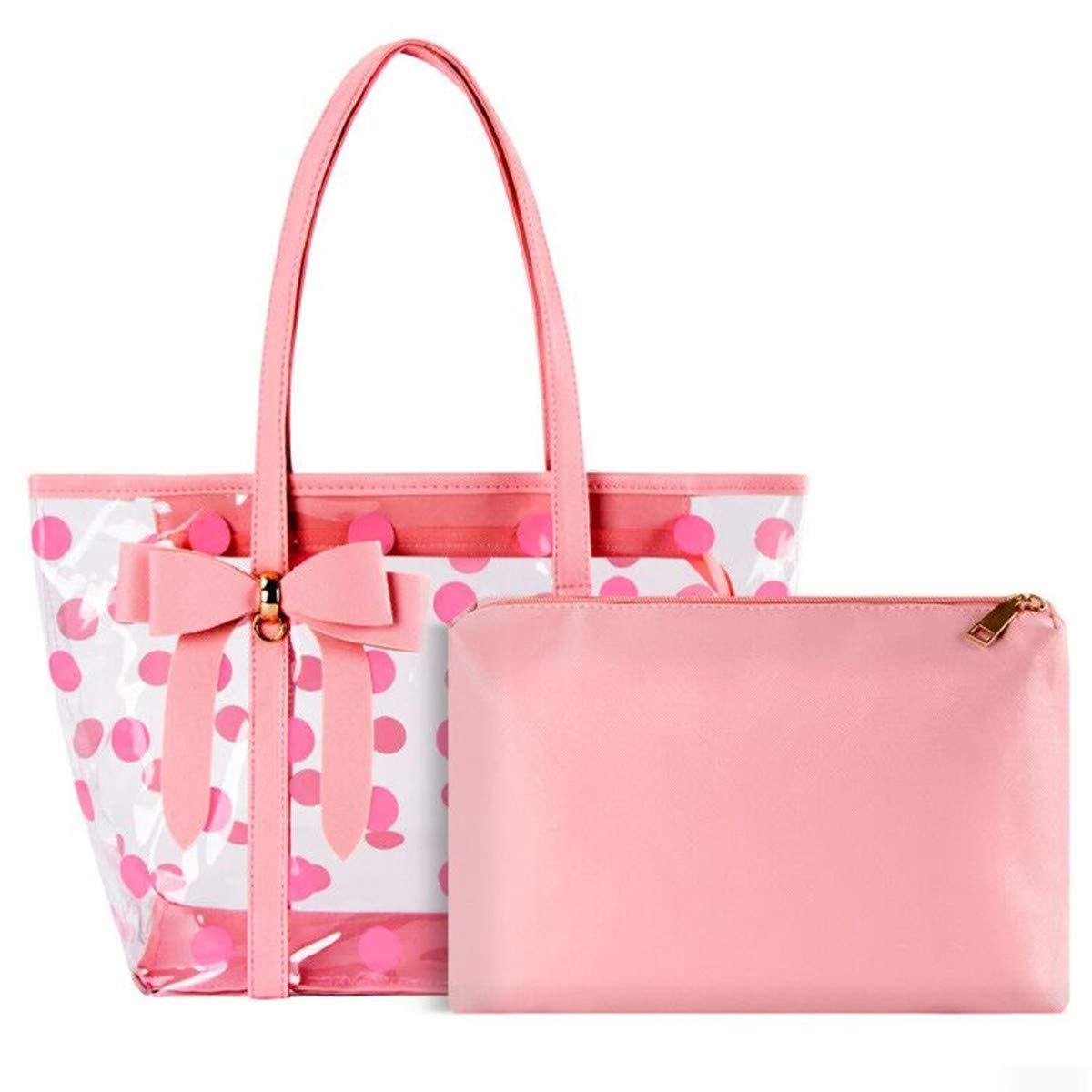 xhorizon FL1 Waterproof Clear Tote Purse Bag Travel Beach Handbag Gym Sports Bag