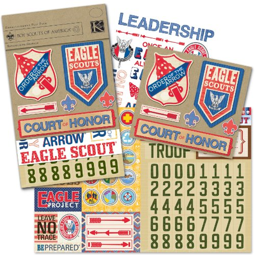 Boy Scouts Embossed Stickers - 3