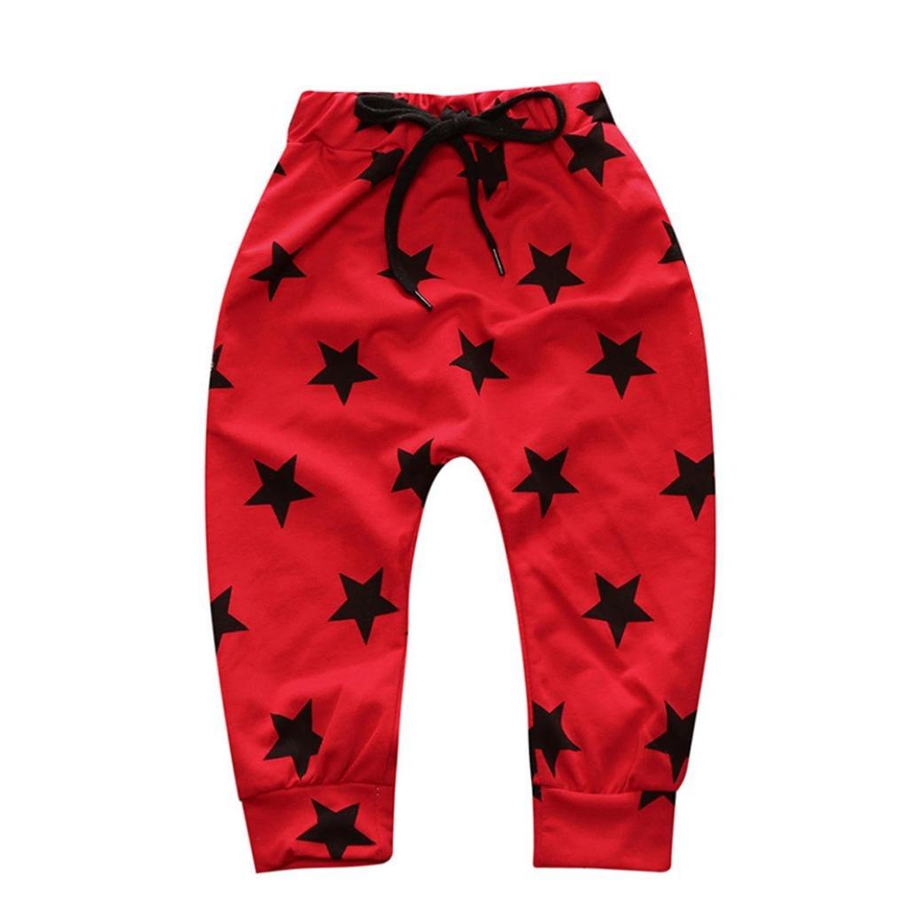 huichang Cute Toddler Children Kids Trousers Baby Girls Boys Stars Pencil Pants Leggings